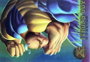 X-MEN-FLEER-ULTRA-1995-HOLO-RELIEF-N-19-STRONG-GUY