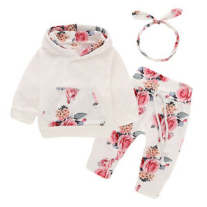 Newborn-Kid-Baby-Girls-Clothes-Hooded-Tops-Pants-Floral-Outfits-Set-Tracksuit