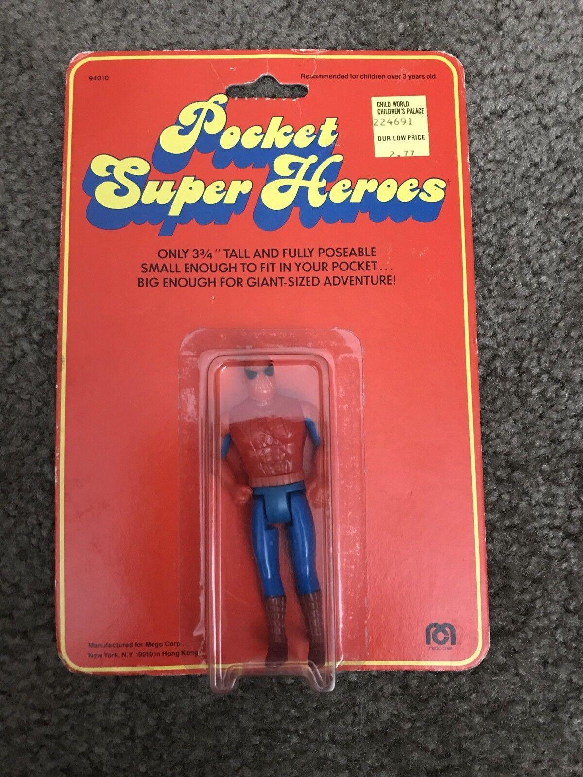 1979 MEGO POCKET SUPERHEROES SPIDER-MAN  MOC