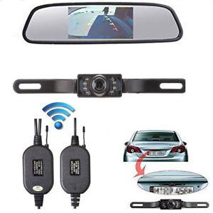 Auto-Rueckfahrsystem-Set-4-3-034-Zoll-TFT-LCD-Rueckspiegel-Monitor-mit-Rueckfahrkamera