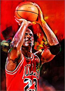 2021-Michael-Jordan-Chicago-Bulls-1-25-Art-ACEO-Sketch-Print-Card-By-Q