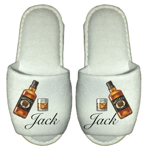 Personalised Spa Slippers prosecco gin mojito whiskey gift cocktail wine alcohol
