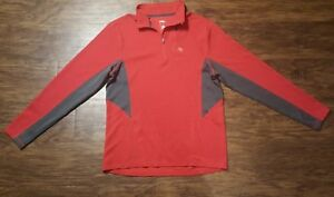 c55f6a51af36 Mens Vintage Nike Dri-Fit Red 1 4 Zip Up Jacket Pullover SZ L EUC