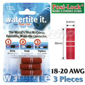POSI-LOCK-18-20-AWG-WATERTITE-WIRE-CONNECTORS-WATERPROOF-REUSABLE-3-PK