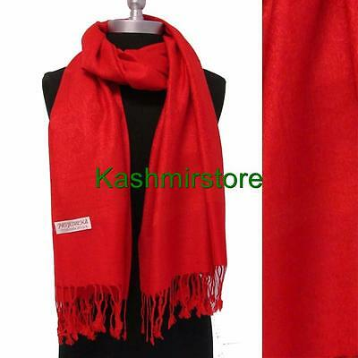New Pashmina Paisley Floral Silk Wool Scarf Wrap Shawl Soft Classic Red #W103
