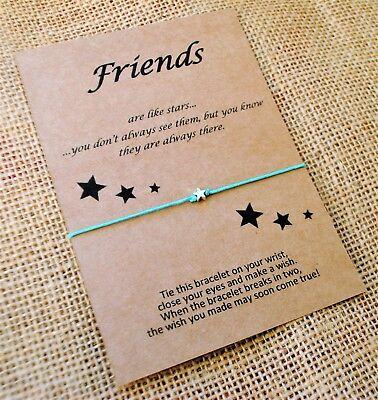 Set of 10 Friends Are Like Stars Wish Friendship Bracelets Tibetan Star Charm