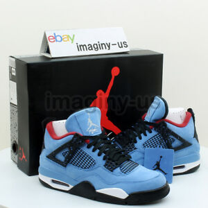 timeless design e60c0 778f9 Details about NIKE 308497-406 AIR JORDAN 4 RETRO MEN'S SHOE UNIVERSITY BLUE  IN HAND