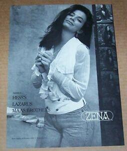 1989 print ad - JUSTINE BATEMAN sexy ZENA jeans fashion ...