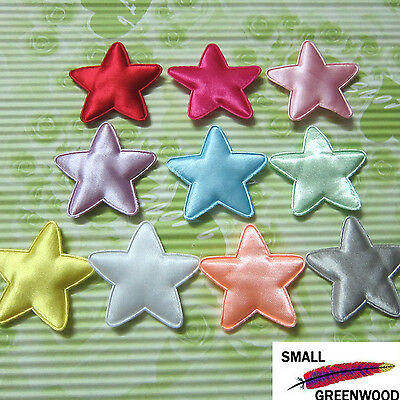 "(U Pick) Wholesale 50-500 Pcs. 1-3/4"" Padded Satin Star Appliques S0330"