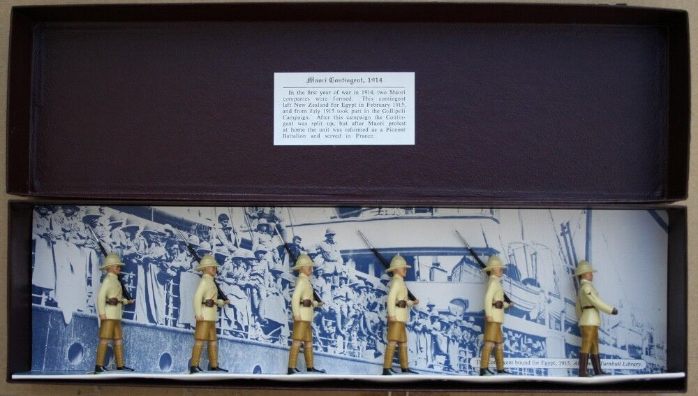 IMPERIAL PRODUCTION, MAORI CONTINGENT, 1914   SET 5    54MM