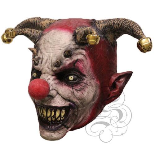 Halloween sovraccarico lattice Spaventoso Male Costume Da Giullare Clown sostegni orrore party maschera