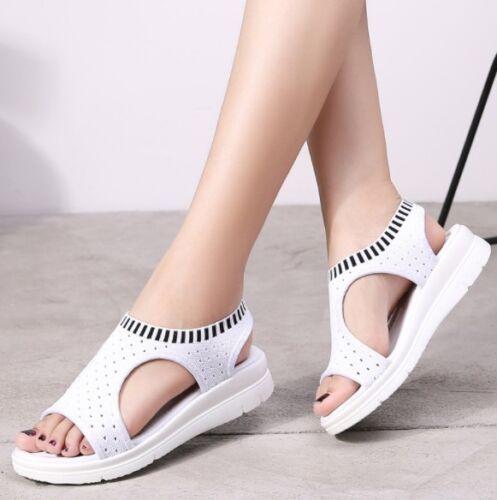 Women Casual Sports Sandals Wedge Mesh Platform Walking Shoes Plus Size Summer