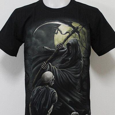 Skull Undead Grim Reaper Rock Eagle T-Shirt 100% Cotton G32 Size M L XL 2XL
