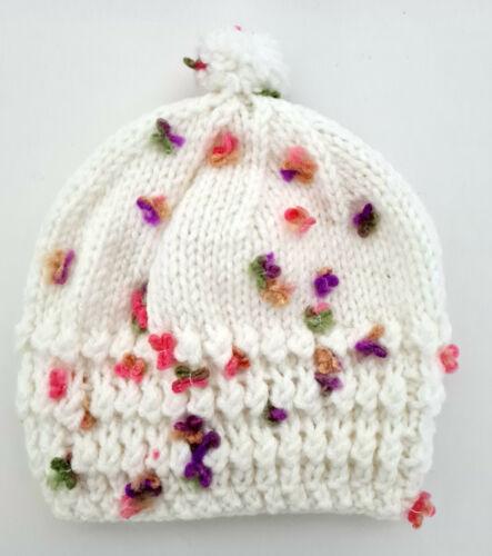 Baby Hat Bobble Beanie Double Knitted Winter Warm Boy Girl Newborn Cap