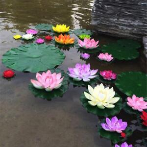Water-Lily-Artificial-Lotus-Flower-Floating-For-Garden-Pond-Decor-Plant-Ornament