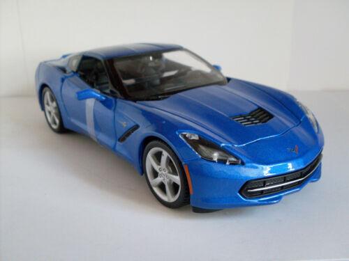 New Maisto Car Model 1:24 2014 Corvette Stingray Coupe Blue Sealed