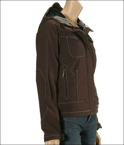 515a80c412 6 of 7  280 Cloudveil Headwall Brown Hooded Soft Shell Wind Stopper Ski  Jacket Coat XS