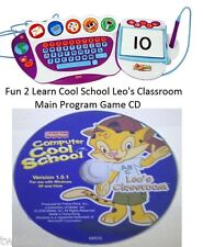 Fisher Price Fun 2 Learn Computer Cool School Main Software Disk Leo's Classroom