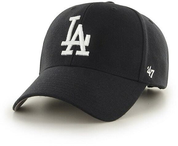 Buy Los Angeles La Dodgers Baseball Cap Hat 47 BRAND MLB MVP Black  Adjustable online  42c76337263