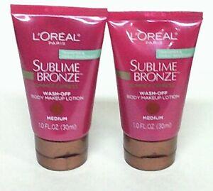 2-L-039-OREAL-Paris-Sublime-Bronze-Summer-Express-Wash-Off-Body-Makeup-Lotion-MEDIUM