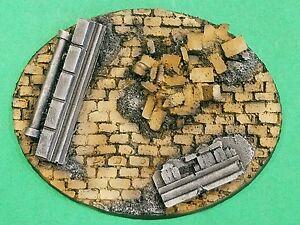 Warhammer 40K Large Oval Resin Wasteland Base Set