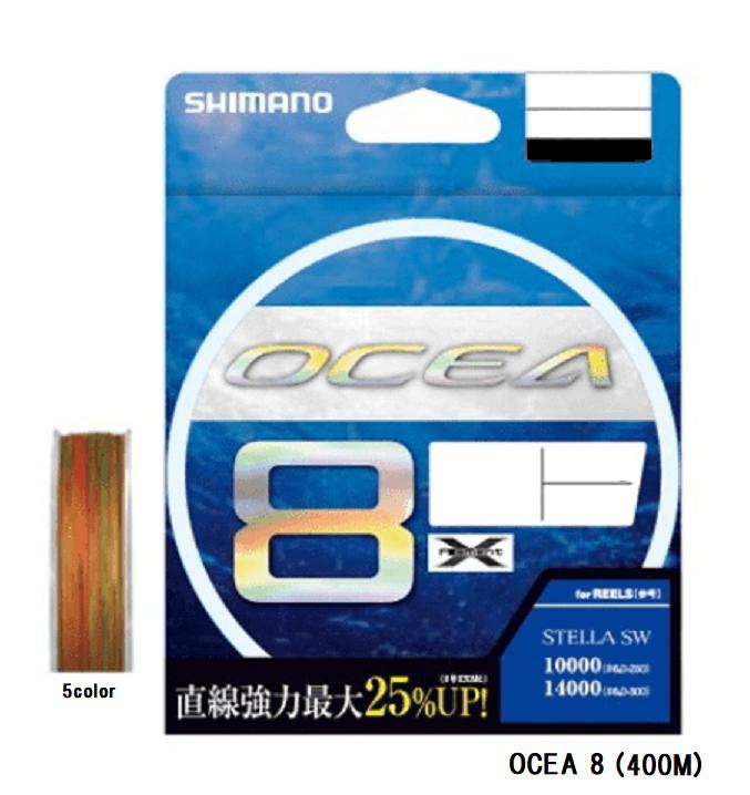 Shimano OCEA 8 LDA81S PE line 400M 5Coloree TOUGH CROSS 2 new model 2019 JAPAN
