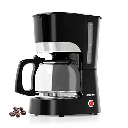 Geepas 1.5L Filter Coffee Machine   1000W Coffee Maker for Instant Coffee, &   �