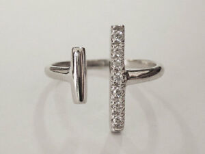 Sovats-Pave-CZ-Open-Parallel-Bar-Geometric-Minimalist-Silver-Ring-Size-5-12