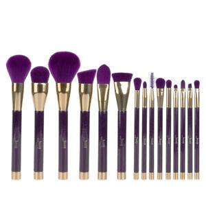 UK-15X-Powder-Eyeshadow-Foundation-Makeup-Brushes-Set-Eyeliner-Tools-Purple