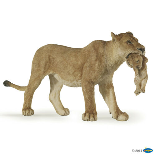 50043-nuevo Lioness with cub Papo animales salvajes-fiera con joven animal