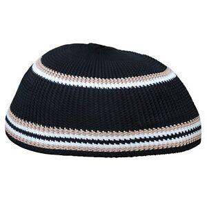 7ea5d1fd999 Details about TheKufi Brown Black   White Nylon Kufi High Quality Islamic  Prayer Cap Muslim