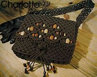 Charlotte Beaded Macrame Handbag Purse Pattern 7107 Purse Strings Vol. 2