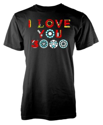Marvellous I Love You 3000 Iron Man Tony Stark Adult T Shirt