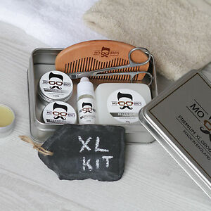 mo bro 39 s xl unscented grooming kit beard oil balm wax soap comb scissors ebay. Black Bedroom Furniture Sets. Home Design Ideas