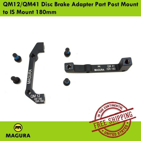 New Magura QM12 Adaptor for 160mm Rotor on Rear IS Mounts or 180mm Rotor on