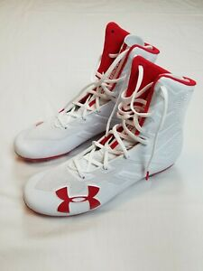 Under-Armour-Highlight-MC-White-Red-Football-Cleats-Men-039-s-Size-11-3020266-102