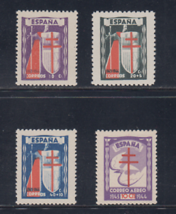 ESPANA-1943-MNH-NUEVOS-SIN-FIJASELLOS-EDIFIL-970-73-PRO-TUBERCULOSOS-LOTE-1