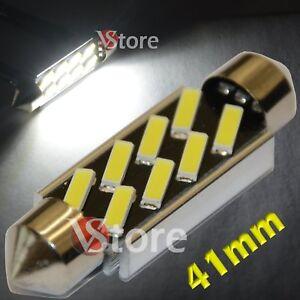 2-Ampoule-Navette-41mm-LED-8-SMD-7020-ANTI-ERREUR-CANBUS-Plafonnier-Plaque-12V