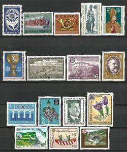 Austria-1964-1990-MNH-16-EUROPA-CEPT-Issues