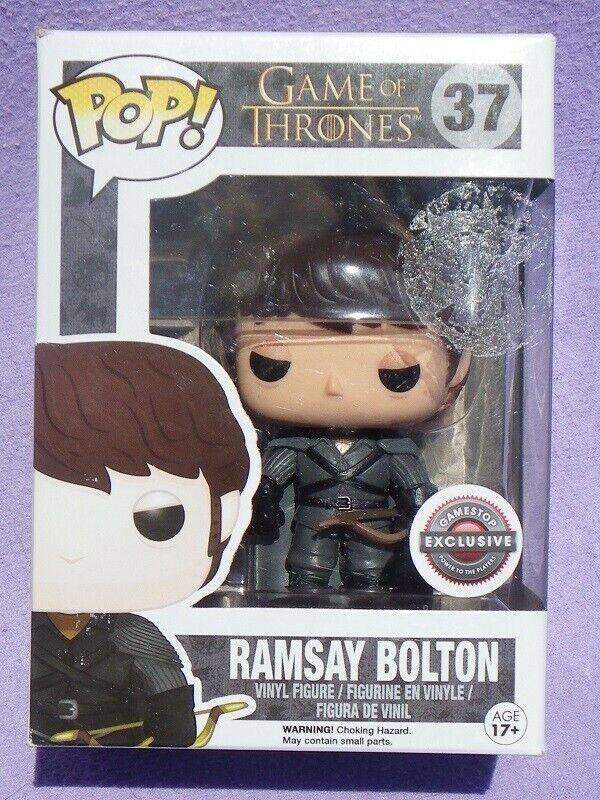 RAMSAY BOLTON Game of Thrones Pop Funko VINYL FIGURINE n° 37 Gamestop Exclusive