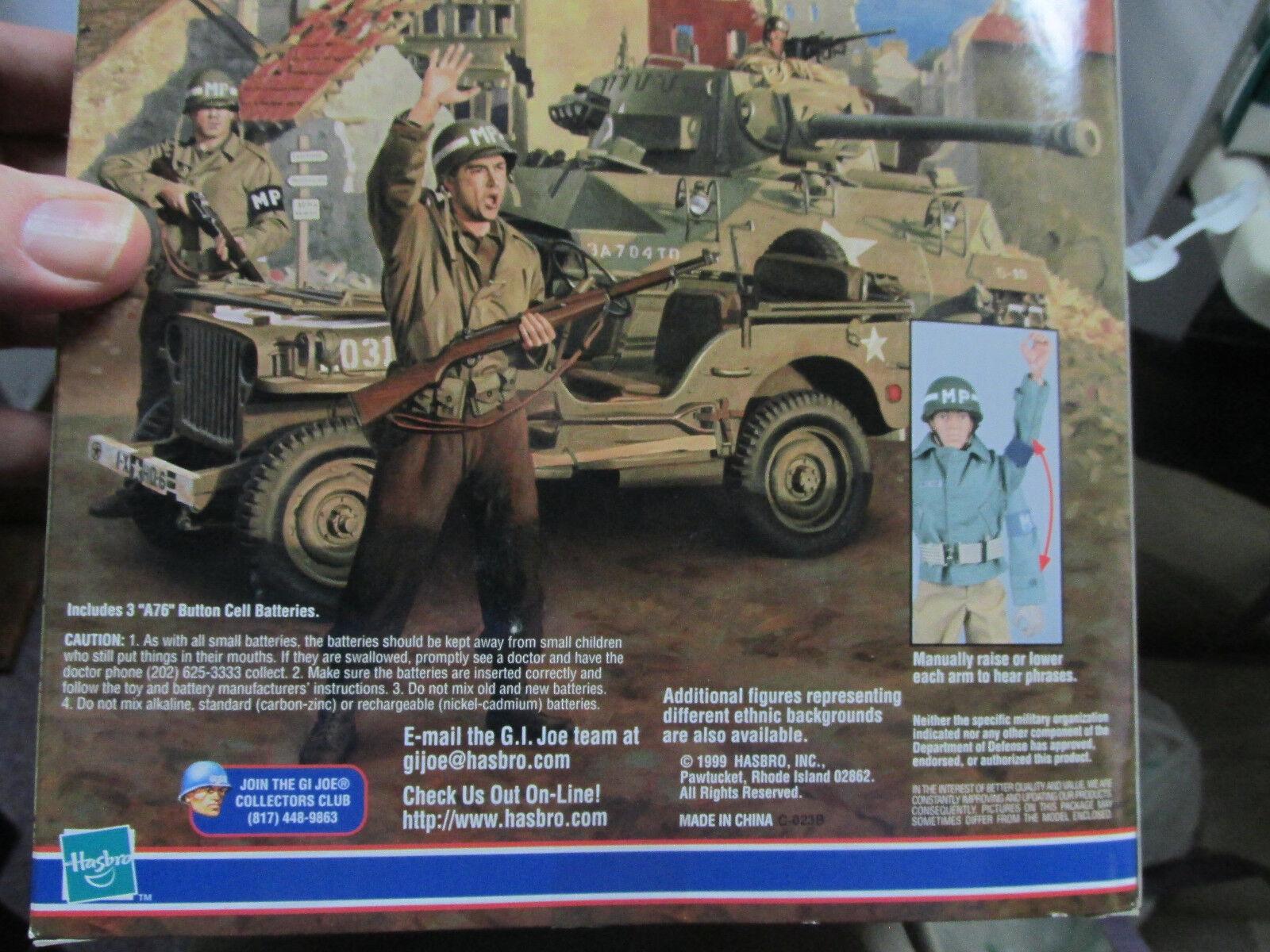 GI GI GI JOE WWII  E.T.O. Military Policeman  Talking GI Joe with 11 Phrases  MIB 115a5d