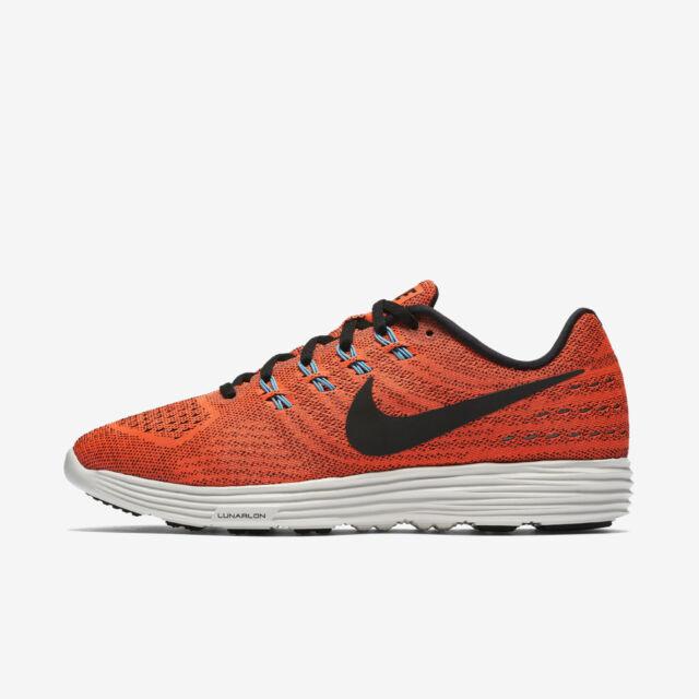 sports shoes af340 7d2ec Nike Lunartempo 2  818097-804  Men Running Shoes Hyper Orange Black