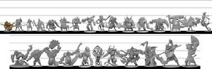 Massive Darkness - Monsters, Heroes, and game parts