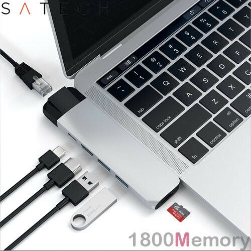 Satechi USB-C Pro Hub with Gigabit Ethernet /& 4K HDMI USB C PD 2x USB-A Micro SD