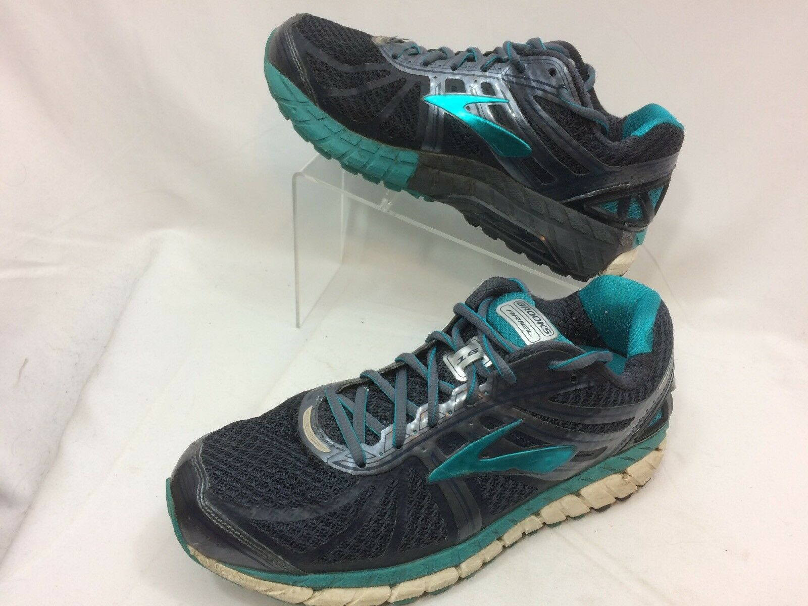 Brooks Ariel 16 Womens Size 9.5 Grey bluee Running Training Athletic shoes