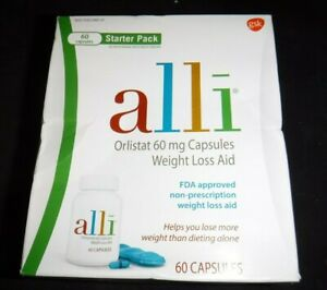 Orlistat Weight Loss Aid Diet Pills 60 mg Starter Pack 60 Capsules Exp 10/22 NEW