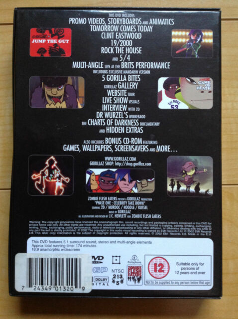 Gorillaz - Phase One: Celebrity Take Down (DVD, 2002, Limited Edition with  48 Page Booklet)