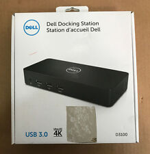 DELL D3100 TRIPLE DISPLAY DOCKING STATION USB 3.0 ULTRA HD 4K