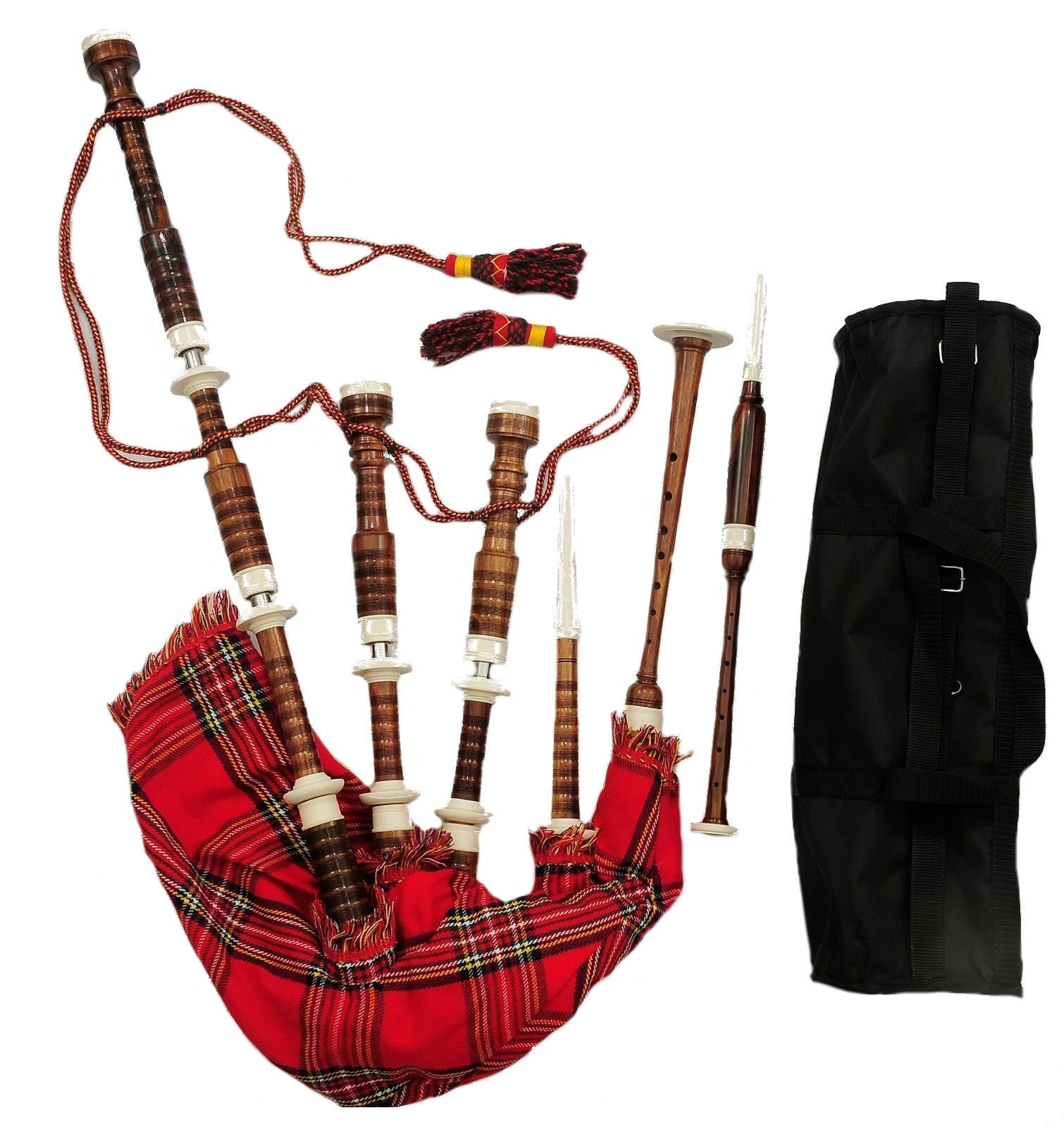 Great Highland Bagpipes Imattion Ivory Mounts Scottish Bagpipe Free Tutor Book