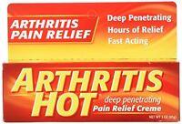 Arthritis Hot Deep Penetrating Pain Relief Cream 3 Oz Each on sale